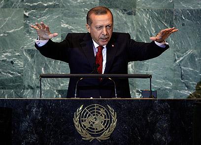 Erdogan addresses General Assembly (Photo: AP)