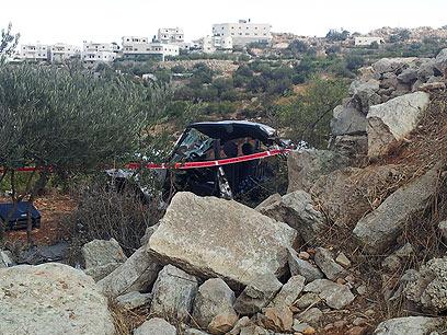 בזירת התאונה (צילום: אליעד לוי) (צילום: אליעד לוי)