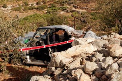 זירת הפיגוע בספטמבר 2011 (צילום: אליעד לוי) (צילום: אליעד לוי)