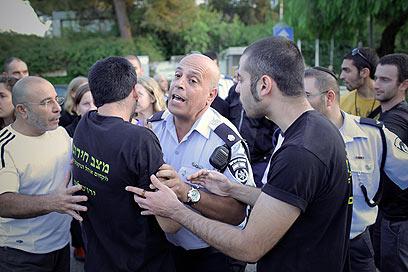 הפגנת סטודנטים בירושלים במקביל להצגת המסקנות (צילום: נועם מושקוביץ) (צילום: נועם מושקוביץ)