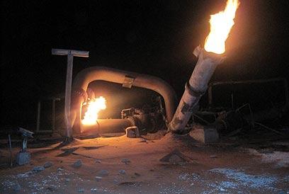 הפיצוץ הקודם בקו הגז לישראל ולירדן. ארכיון (צילום: EPA) (צילום: EPA)