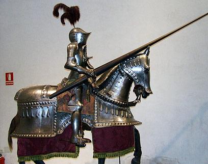 תצוגת האבירים בארמון (צילום: יואב גלזנר) (צילום: יואב גלזנר)