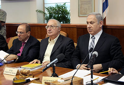 נתניהו וטרכטנברג בישיבת הממשלה בשבוע שעבר (צילום: מרק ישראל סלם) (צילום: מרק ישראל סלם)