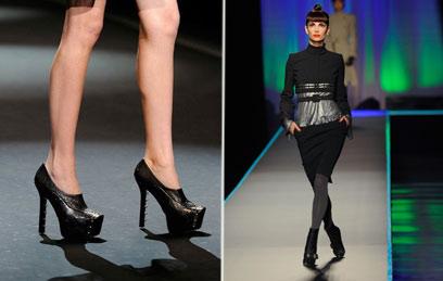 בכל בתי האופנה הגדולים אימצו את המגפון לעונה הנוכחית. משמאל: כריסטיאן לבוטין (צילום: gettyimages)