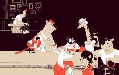 חיים מסעירים בפאב החיות. מתוך הספר (צילום: אולג מילשטיין) (צילום: אולג מילשטיין)
