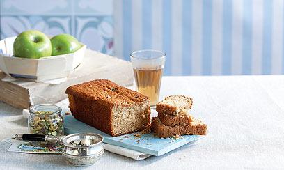 עוגת סילאן, חלבה ופיסטוק  (צילום: דן לב) (צילום: דן לב)