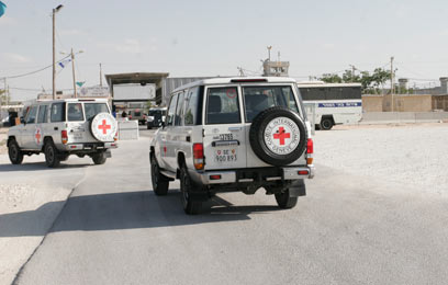 אני הצלב האדום מגיעים לכלא קציעות. ראיון לכל אסיר (צילום: אליעד לוי) (צילום: אליעד לוי)