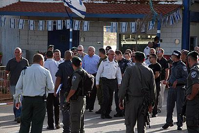 Entrance to Ofer base (Photo: Gil Yohanan)