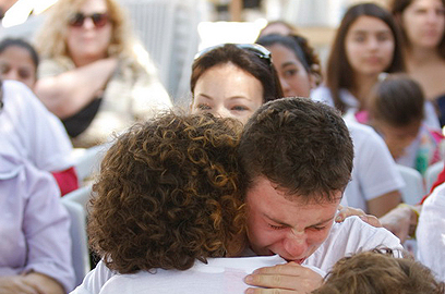 Tears of joy in Jerusalem (Photo: Shiran Granot)