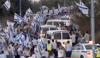 השיירה הצוהלת, בדרך למצפה הילה (צילום: יהונתן צור) (צילום: יהונתן צור)