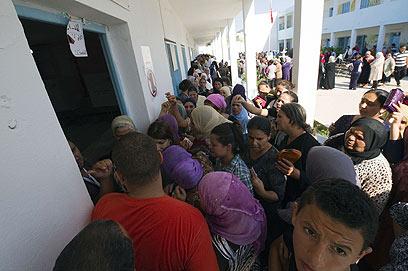90% הצבעה בתוניסיה (צילום: AFP) (צילום: AFP)