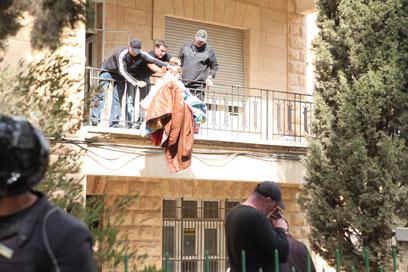 """""""לא הראו צו"""". הפינוי בירושלים (צילום: אוהד צויגנברג) (צילום: אוהד צויגנברג)"""