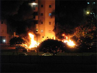 Ashdod under fire (Photo: Anatoly Pogoreli)