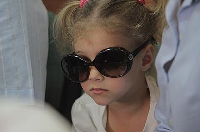 ניקול, בתו של רזבוזוזב, הגיעה גם היא (צילום: אורן אהרוני) (צילום: אורן אהרוני)