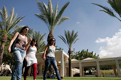 אוניברסיטת בן גוריון. הסטודנטים חזקים (צילום: אליעד לוי)