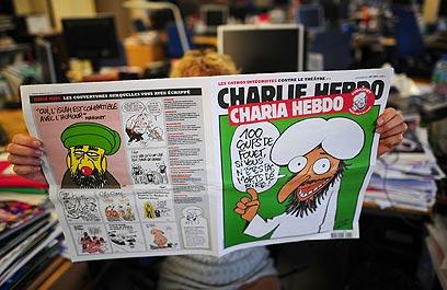 לא הפרובוקציה הראשונה. מוחמד בשער השבועון לפני שנה (צילום: AFP)