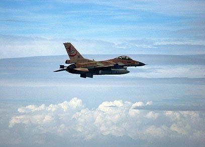 """מטוס קרב ישראלי בתרגיל בשמי איטליה (צילום: דובר צה""""ל) (צילום: דובר צה"""