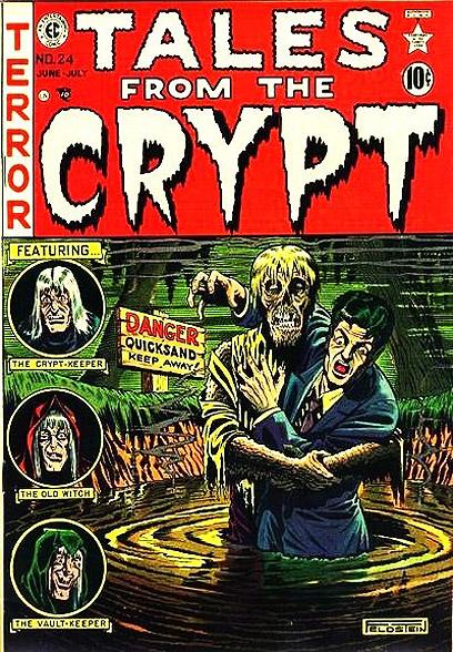 """""""Tales From The Crypt"""". נבלים פופולריים  (עטיפת הקומיקס) (עטיפת הקומיקס)"""