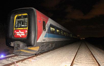 הרכבת שפגעה בשני הרוכבים (צילום: עידו ארז) (צילום: עידו ארז)
