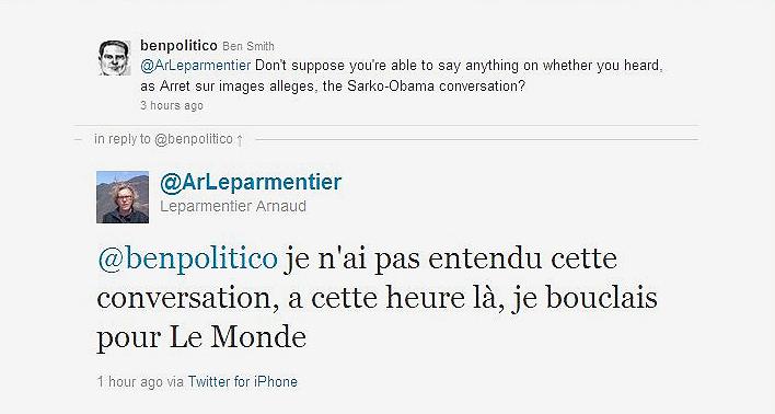 """כתב """"פוליטיקו"""" רדף אחרי הכתב הצרפתי בטוויטר. """"לא חושף מקור"""" ()"""