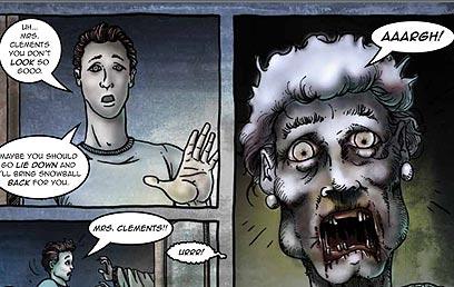 כיצד נתמודד כשהזומבים יגיעו? מתוך הקומיקס של משרד הבריאות  (עטיפת הקומיקס) (עטיפת הקומיקס)