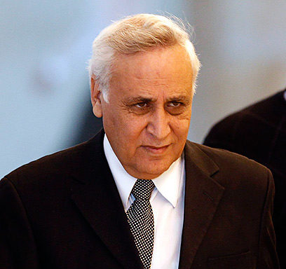 Rags-to-riches story. Katsav during hearing on appeal (Photo: Reuters)