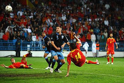 """דמייאנוביץ', מלך השערים ב""""קיי ליג"""", נגד נבחרת אנגליה (צילום: Gettyimages) (צילום: Gettyimages)"""