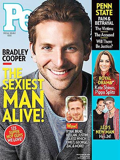 "נראה כמו גבר רגיל? ברדלי קופר על שער ""פיפל"" (שער המגזין) (שער המגזין)"