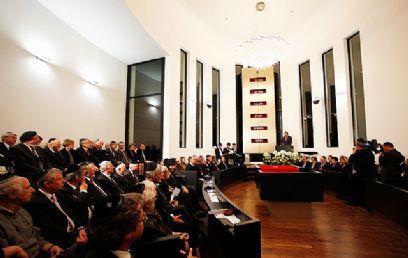נשיא גרמניה וחברי ממשלה (צילום: באדיבות משה פרידמן – ועידת רבני אירופה) (צילום: באדיבות משה פרידמן – ועידת רבני אירופה)