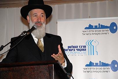 הרב מצגר. טרם הוחלט אם להאריך את מעצרו (צילום: לימור קראדי) (צילום: לימור קראדי)