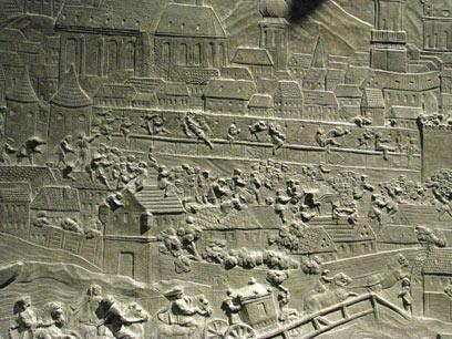 סצנה של הכנות למלחמה באחד מארונות הקבורה (צילום: שלמה צדקיהו, טבע הדברים) (צילום: שלמה צדקיהו, טבע הדברים)