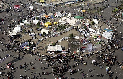 Tahrir Square on Wednesday (Photo: EPA)