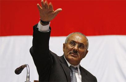 נשיא תימן היוצא סאלח. ב-2006 נבחר לכהונה בת שבע שנים (צילום: AFP) (צילום: AFP)