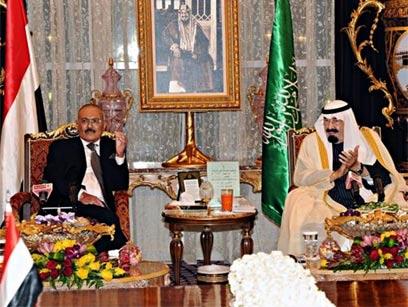 Former Yemen PM with Saudi King (Photo: EPA)