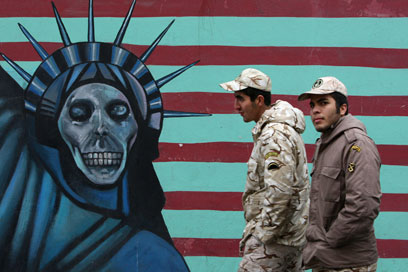 Anti-American graffiti in Tehran (Photo: AP)