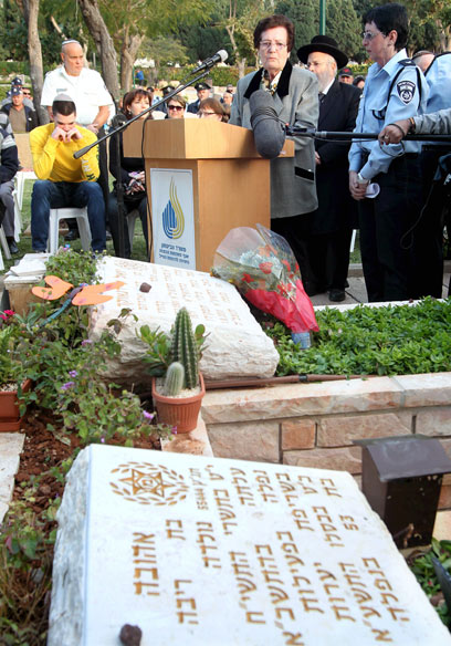אמה של אהובה תומר, היום בחיפה (צילום: גיל נחושתן, ידיעות אחרונות) (צילום: גיל נחושתן, ידיעות אחרונות)