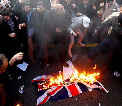 Fire at British embassy (Photo: EPA)