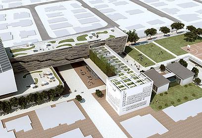 """בי""""ס ירוק, הדמייה. ניצול מיטבי של השטח (צילום: באדיבות אליקים אדריכלים) (צילום: באדיבות אליקים אדריכלים)"""