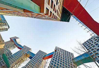 """פרויקט """"היבריד לינק"""" של האדריכל סטיבן הול בבייג'ין (צילום: סטיבן הול היבריד לינקד) (צילום: סטיבן הול היבריד לינקד)"""