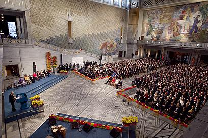 הזוכות יודעות שיש עוד הרבה עבודה. הטקס באוסלו (צילום: AFP) (צילום: AFP)