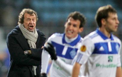 יורי סימן, מאמן דינמו. גם ניצחון לא היה עוזר הערב (צילום: רויטרס) (צילום: רויטרס)