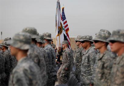 נפרדים מעיראק. חיילים אמריקנים בבגדד (צילום: AP) (צילום: AP)