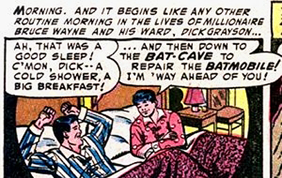 באטמן ורובין במיטה. מתחיל ונגמר בפיג'מה  (עטיפת הקומיקס) (עטיפת הקומיקס)