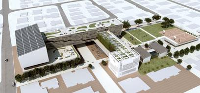כך ייראה לפי התוכנית התיכון בראשון-לציון (צילום: אליקים אדריכלים)