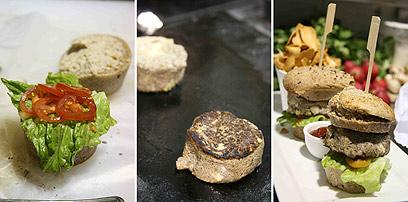 המבורגר טבעוני מארטישוק ירושלמי ופטריות (צילום: אורי שביט) (צילום: אורי שביט)