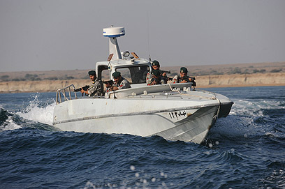 Iranian vessel during drill (Photo: MCT)