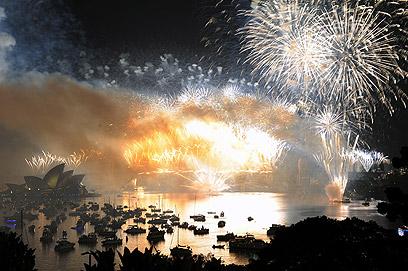 הזיקוקים המרהיבים בסידני (צילום: AFP) (צילום: AFP)