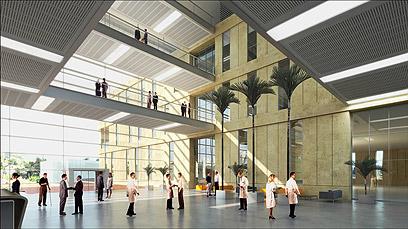 """כך ייראה ביה""""ח באשדוד (הדמיה: 3DVision אדריכלים: מרסלו ברסטובסקי, יסקי-מור-סיון) (הדמיה: 3DVision אדריכלים: מרסלו ברסטובסקי, יסקי-מור-סיון)"""