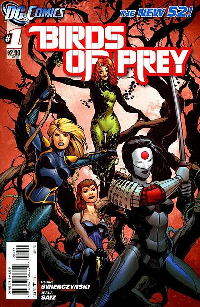 """המין הכי בועט. """"Birds Of Prey""""  (עטיפת הקומיקס) (עטיפת הקומיקס)"""