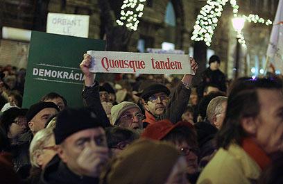 כרסום בתמיכה בממשלה, אבל האופוזיציה מפולגת (צילום: AFP) (צילום: AFP)